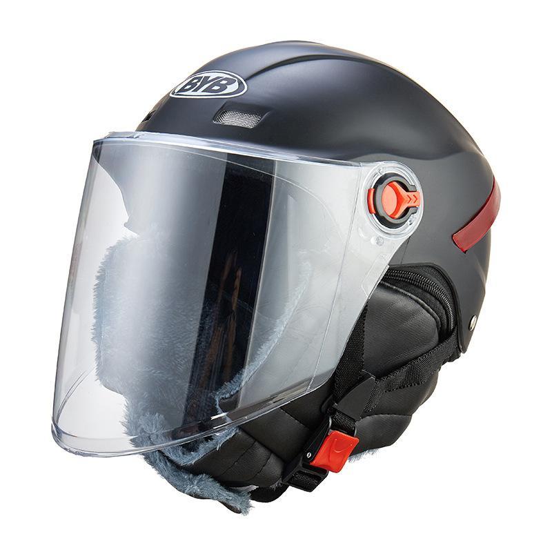 Dragonpad Electrombile Motorrad Helm Antifog Warme Mit Abnehmbare Nickchief Frau Mann Universal Vier Jahreszeiten Halb Helm