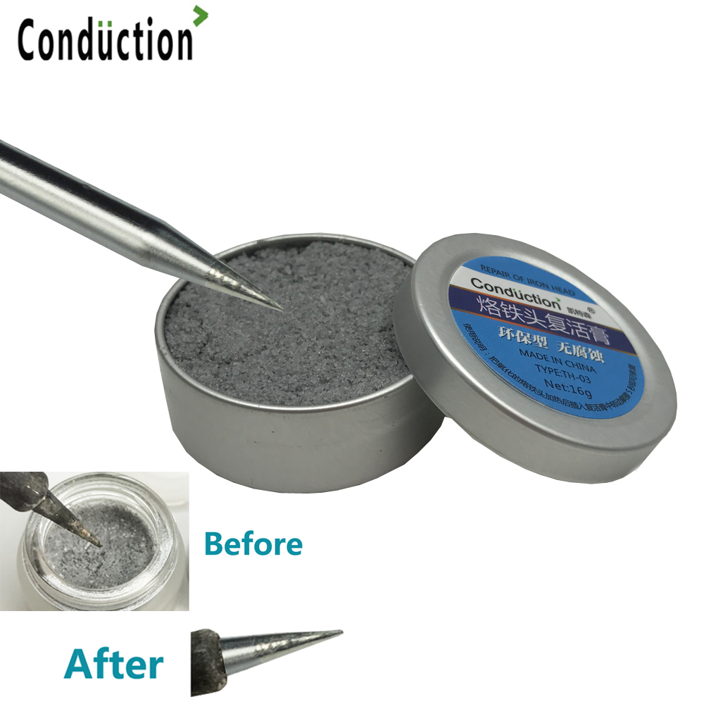 ENSOM Electrical Soldering Iron Tip Refresher Solder Cream Clean Paste For Oxide Solder Iron Tip Head Resurrection No Corrosion