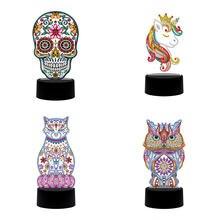 Новый дизайн алмазная живопись 5d Алмазная мозаика лампа с вышивкой