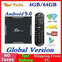 Android 9.0 TV Box X96 Max Amlogic S905 Smart 4K Media Player 4GB di RAM 64GB ROM X96Max set top Box 2G16G QuadCore 2.4G e 5G Wifi