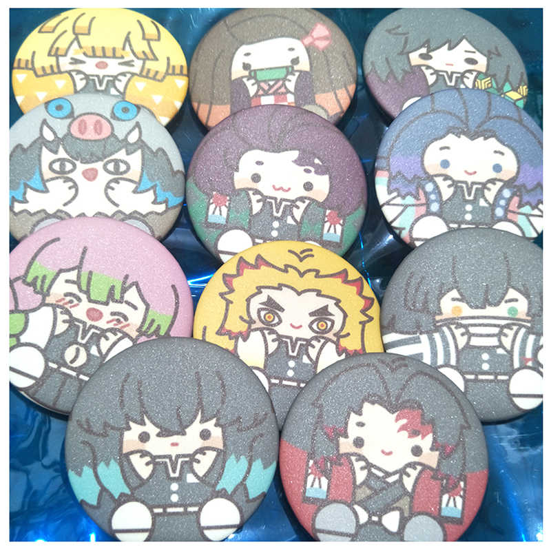 Nengdou T3 Anime Pin Demon Slayer Kimetsu nie Yaiba Kamado Tanjirou Cosplay odznaka niestandardowe DIY plecak ikona przycisk Cartoon broszka