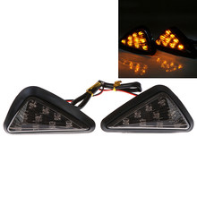 1 Paar Blinker Riangle Moto Richtingaanwijzer Lampen Piranha Licht Motorfiets Flasher 9 Led Turn Licht Motorbike Indicatoren(China)