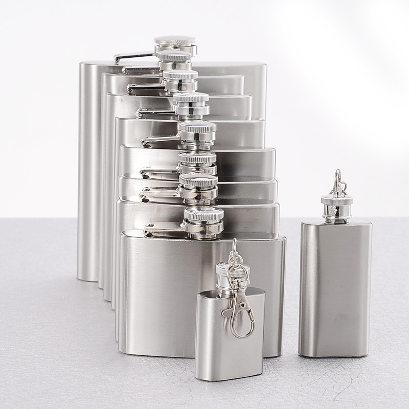 Hot Sale Flask Trustworthy 1pc 10 8 6 4 2 1 oz Stainless Steel Hip Flask Liquor Whisky Alcohol Cap Funnel Drinkware Bottle