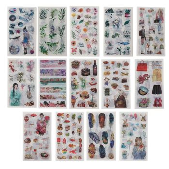 Flower Leaves Resin Stickers Resin Mold Frame Fillers Material Jewelry Making image