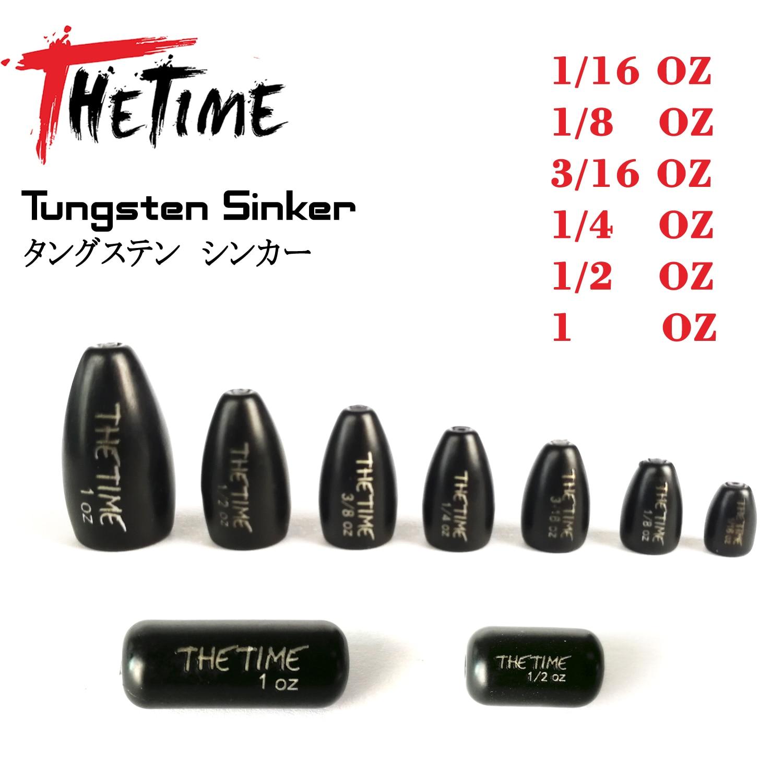 TheTime-Plataforma de tiro de tungsteno, pesas de bala de 1/16-28g, accesorios de Señuelos de pesca de lubina, Texas/NC/Drop, 1,8-1 OZ
