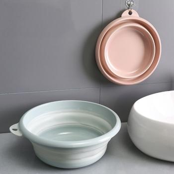 Składane plastikowe przenośne umywalki składane umywalki warzywa owoce umywalka produkty łazienkowe akcesoria narzędziowe do czyszczenia gospodarstwa domowego tanie i dobre opinie Foldable Hang Pink Green Ekologiczne 32cm2 32 cm 26 28 30 32 34 36 38 40 44 48 50 7090 Z tworzywa sztucznego Nieprzezroczyste