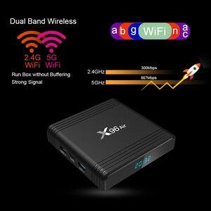 Image 4 - X96AIR אנדרואיד 9.0 מיני טלוויזיה תיבת Amlogic S905X3 Quad Core 2.4G/5G Wifi קול שליטה 8K HDR מדיה נגן חכם X96air