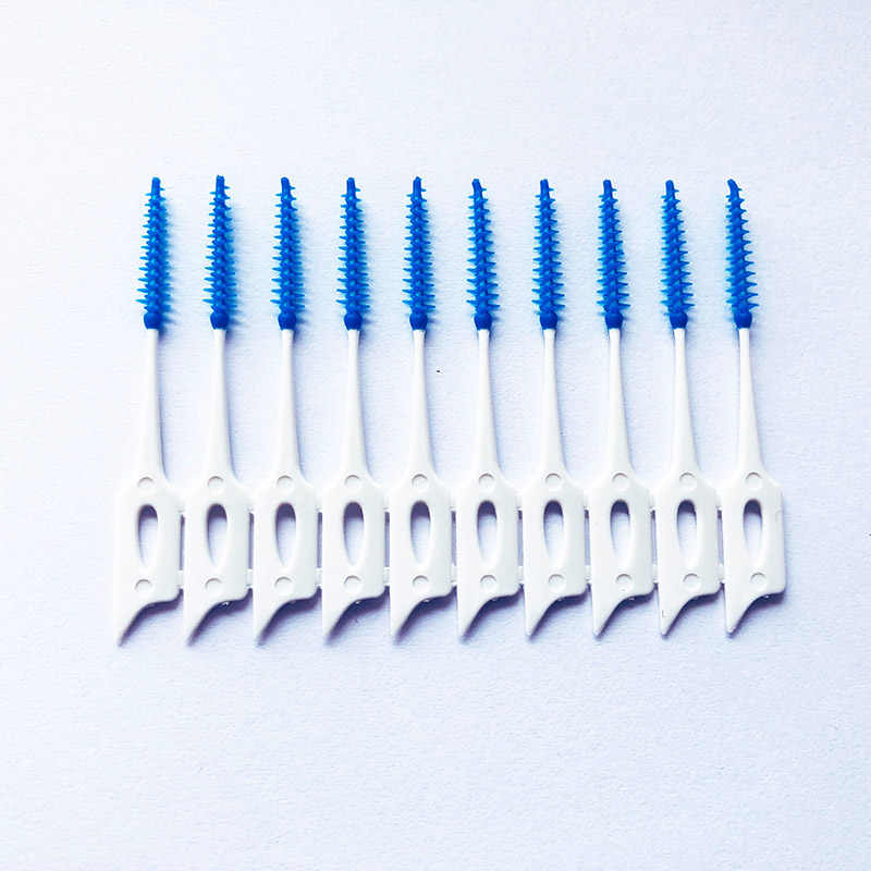 Gorąca sprzedaż czyszczenia zębów Oral Clean 40 sztuk miękkiego silikonu masaż szczoteczka do zębów wykałaczka