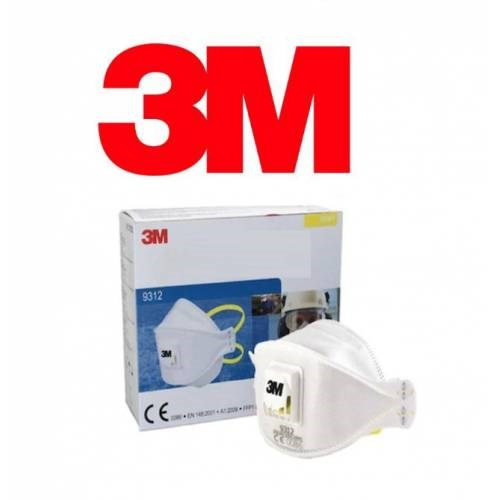 1 Piece 3M 9312 Dust Mask Special Design Antibacterial Hygienic All Face Compatible Dust Haze Mask In Original Box
