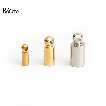 BoYuTe (100 Pieces/Lot) 16 Sizes Metal Brass Tassel End Clasp Connector Diy Parts Accessories Clasps for Jewelry image