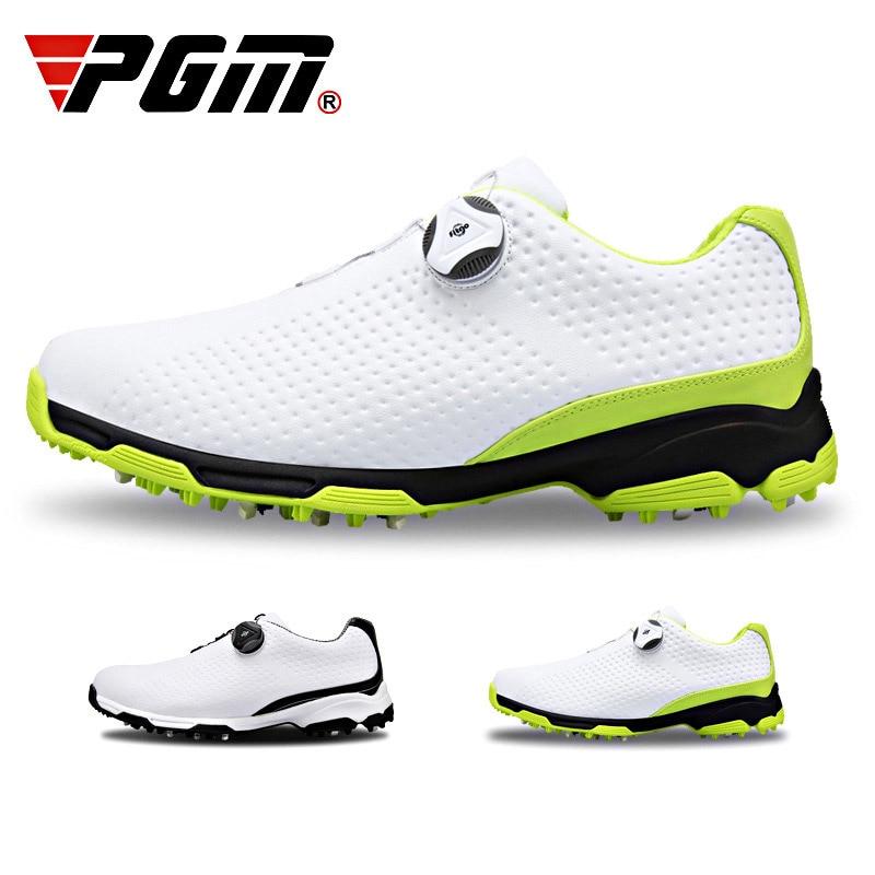 Golf Golf Shoes Men Sports Waterproof Shoes Breathable Knobs Buckle Anti-slip Training Sneakers PSEN999