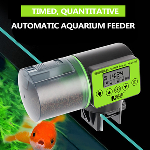 Intelligent Automatic Fish Feeder Aquarium Bowl Electrical Timer Feeder Food Feeding Portable 200ml Large Capacity Feeder Tool
