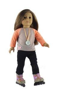 Image 4 - 1 conjunto boneca roupa para 18 polegada boneca americana muitos estilo para a escolha