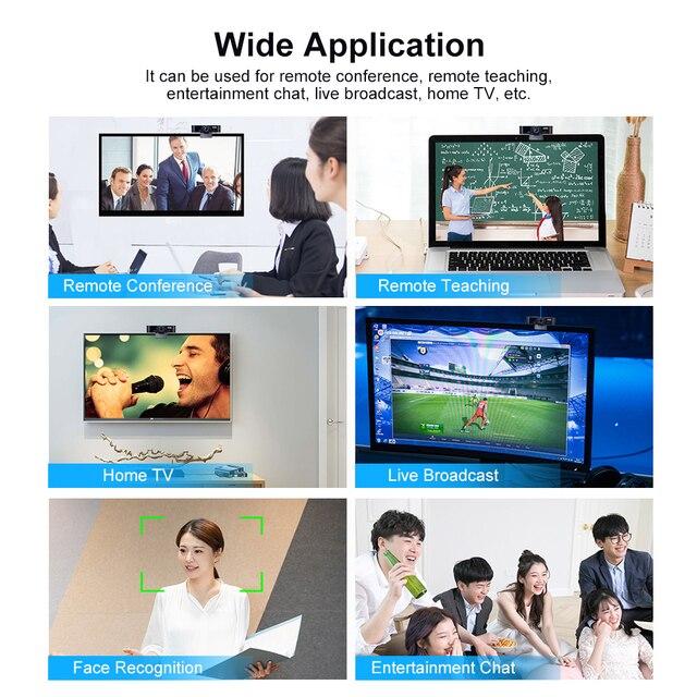 5 milioni di Pixel Messa A Fuoco Automatica Webcam HD 1080P Webcam Built-in Microfono di Alta-end Chiamata Video Drive-free Web Della Macchina Fotografica per PC Del Computer Portatile 3