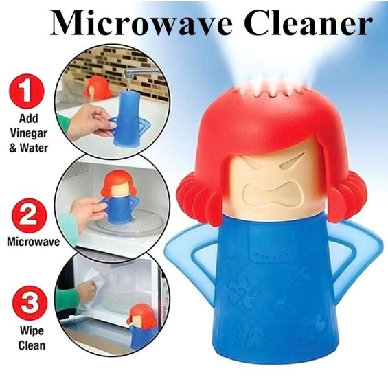 Angry Mama Microwave Cleaner Easily Cleans Microwave Oven Steam Cleaner Appliances For The Kitchen Refrigerator Cleaning 4.8