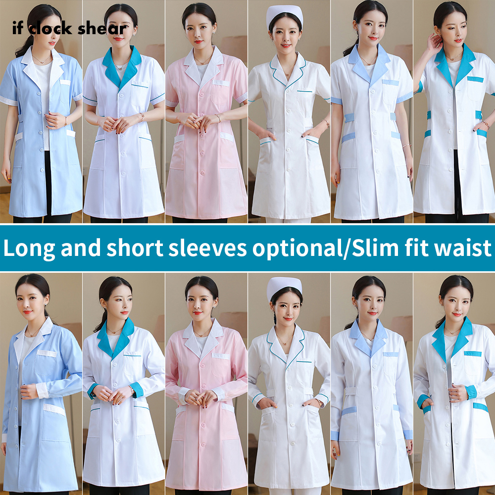 Nurse Uniforms Women White Coats Medical Surgical Clothes Pharmacy Hospital Doctor Clothing Women Beauty And Health Workwear New