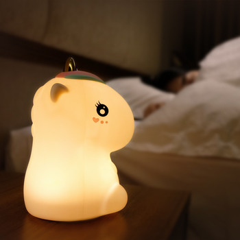 Unicorn LED Night Light Touch Lamp Colorful Cartoon Silicone USB Rechargeable Bedroom Bedside Lamp for Children Kids Baby Gift fenglaiyi diy tetris puzzle retro style game tower baby colorful brick creative puzzle led night light children gift lamp