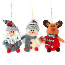 2019 new Year Santa Claus Snowman Reindeer Doll Plush Pendant Christmas Gift Toys for Holiday Xmas Party Decoration Ornaments