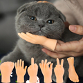 Practical Jokes Kids Toy for Pets Cat Massage Gloves Small Finger Funny Hand Novelty Gag Toys Boys Grils Adult Cool Stuff Prank