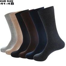 2020 calze da uomo vestito di cotone degli uomini di affari di Compressione calze lunghe di inverno di Alta qualità signore sokken 6 pairs Più Il formato EU41 48