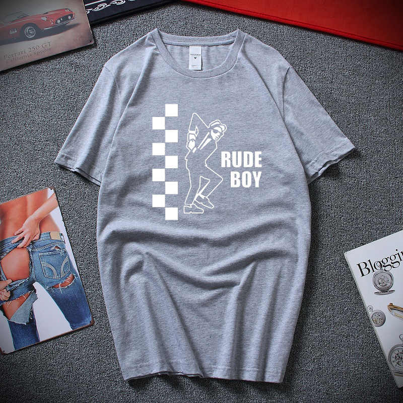 LEANING RUDE BOY MENS POLO SHIRT SKA TWO TONE SPECIALS RUDE BOY GIRL MADNESS