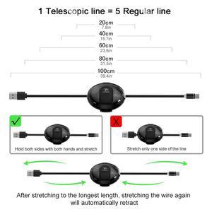 Image 3 - Oatsbasf Magnetische Kabel Type C Usb Voor Xiao Mi Mi 9 Mi Cro Usb kabel Magnetic Opladen Intrekbare Kabel Voor iphone Huawei Samsung