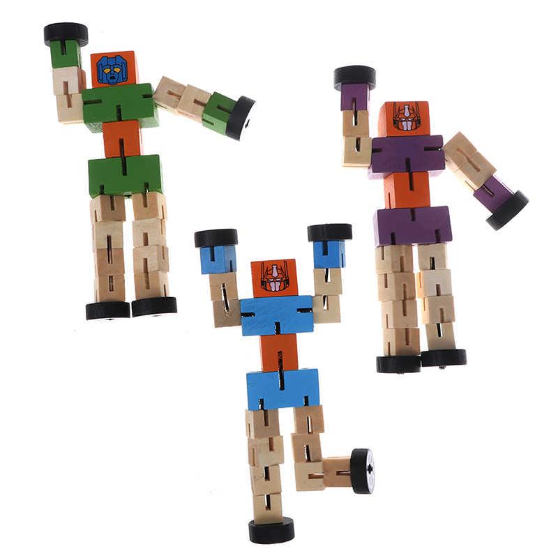 Новый 1 шт. деревянный Робот трансформации дети обучающий Интеллектуальный игрушка