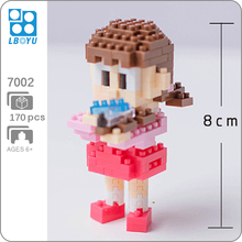 BOYU 7002 Anime Doraemon Minamoto Shizuka Girl 3D Model DIY 170pcs Mini Diamond Blocks Bricks Building Toy for Children no Box
