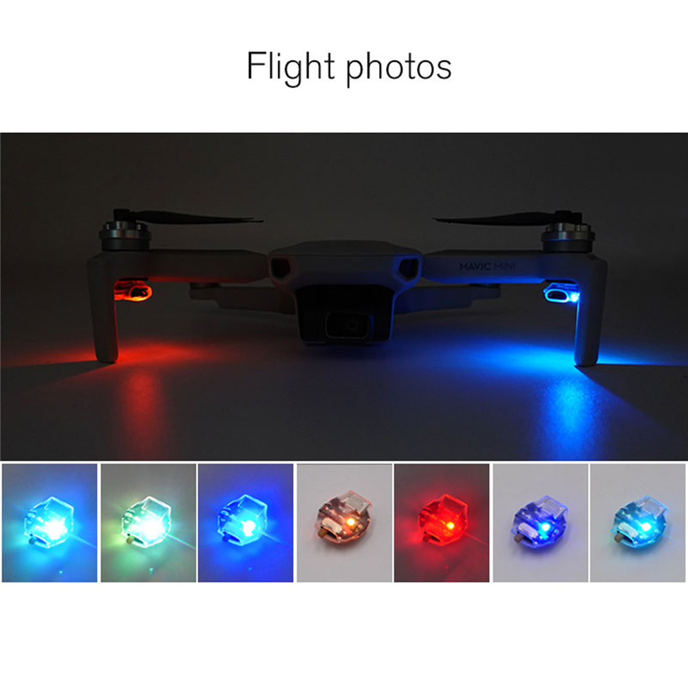 Rechargeable Colorful Flash LED Light For DJI Mavic Mini Series Drone FPV Racing Drone/ RC Car Parts Night Flight Signal Light