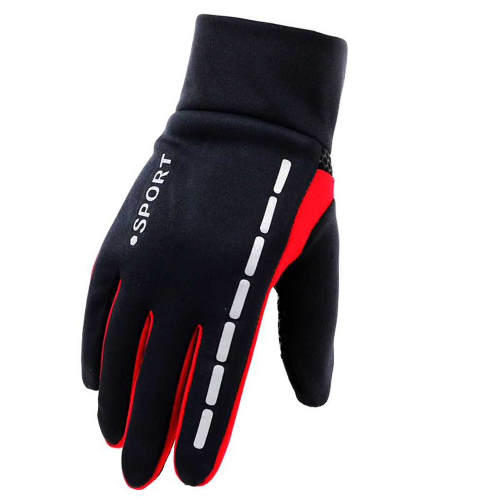 Mens Winter Therm With Anti-Slip Elastic Cuff Thermal Soft Gloves Man Waterproof Sports Gloves Driving Cycling Warm Gloves #L10