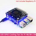 Raspberry Pi 4 вентилятор охлаждения GPIO Плата расширения с крутым светодиодный светильник GPIO Extenison модуль для Raspberry Pi 4B/3B +/3B/3A +