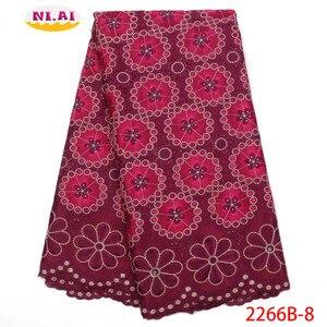 Image 4 - Hot Sale Vải Ren Cotton Phối Ren Cao Fabr Hành Tây Nigeria Vải Ren Châu Phi Váy Đầm Cho Nữ NA2266B 2