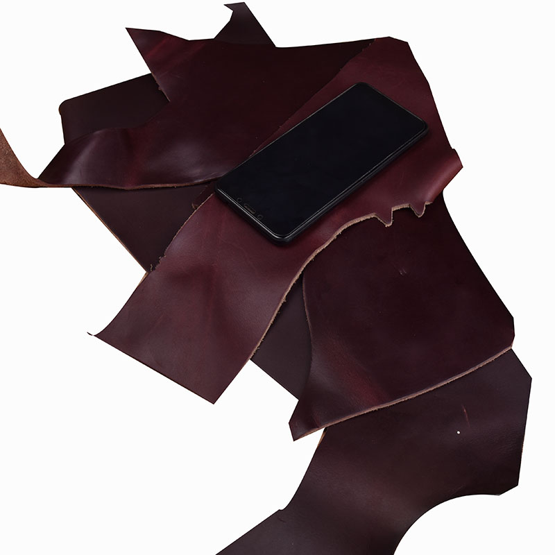 First Layer Of Cowhide Tree Oily Leather High-fat Leather Cowhide Wine Red Leather Craft For DIY Leather Craft