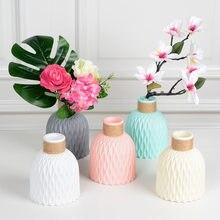 Anti-keramik Vase Dekoration Moderne Kunststoff Vasen Für Blume Nordic Hochzeit Decor Rattan-wie Unzerbrechlich Einfachheit Korb