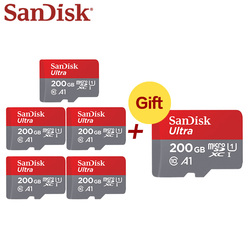 Kup pięć dostać jedną darmową kartę Sandisk TF karta micro sd 32GB C10 64GB mini karta pamięci 128GB karta Flash 200GB 5 + 1