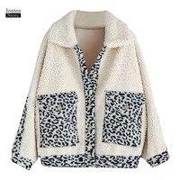 Faux Fur Coat Winter Jacket Women Teddy Furry Leopard Print Fake Fur Coat Oversized Streetwear bomber Jackets Thick Warm Coats
