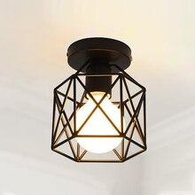 Потолочный светильник в ретро-стиле, современный светильник для гостиной, спальни, кухни, креативный черный железный светильник без лампы