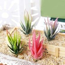 Зебра алоэ Искусственные суккуленты растения «сделай сам» для дома и сада растения настенный искусственный растения