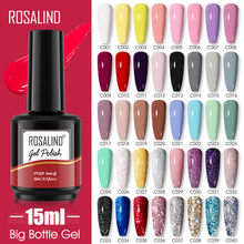 ROSALIND 15ml Color Gel Polish All For Manicure New Year Hybrid Varnishes Soak Off Gel Nail Lacquer Art Design Need Base Top