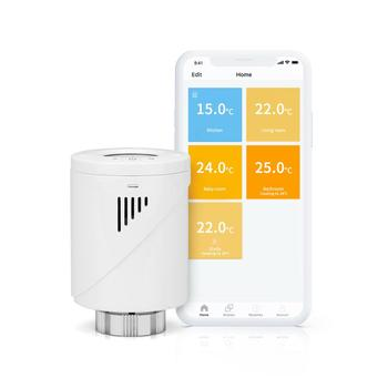 Smart Radiator Thermostat Valve Multi-Room Control Support Alexa, Google Home, IFTTT LCD Temperature Display(HUB Required )
