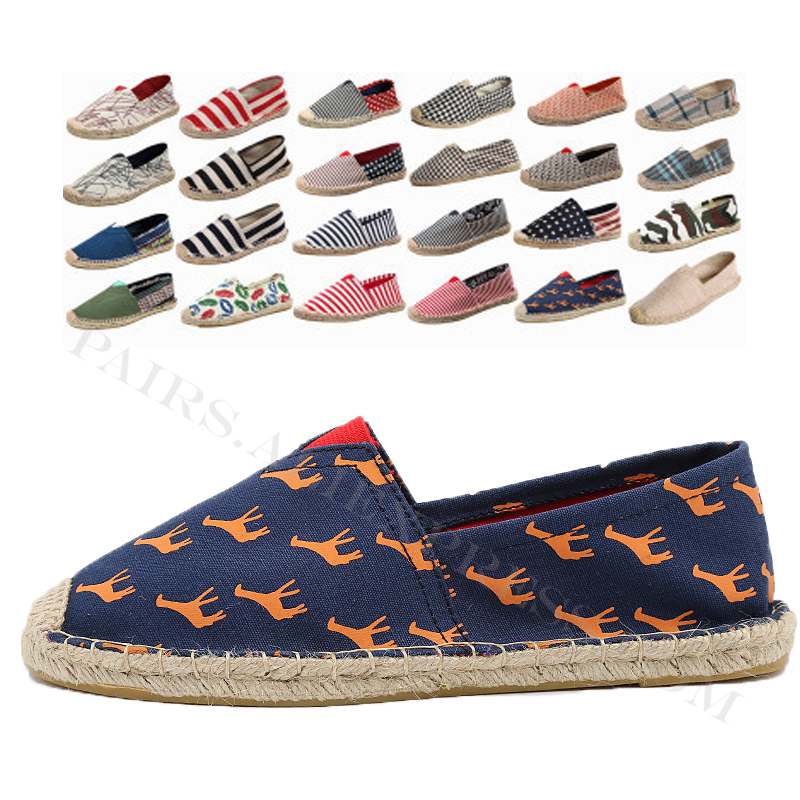 New Summer Linen Breathable Casual Flats Shoes Mens Espadrilles Loafers Fashion Boy Canvas Shoes Fisherman Driving Footwear