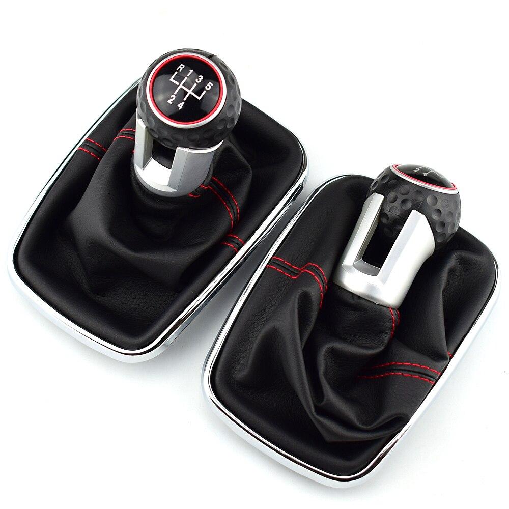 For Volkswagen VW 1999-2004 Golf 4 IV MK4 GTI R32 Bora Jetta MT 12mm 5 / 6 Speed Car Gear Shift Knob Lever Shifter Gaitor Boot