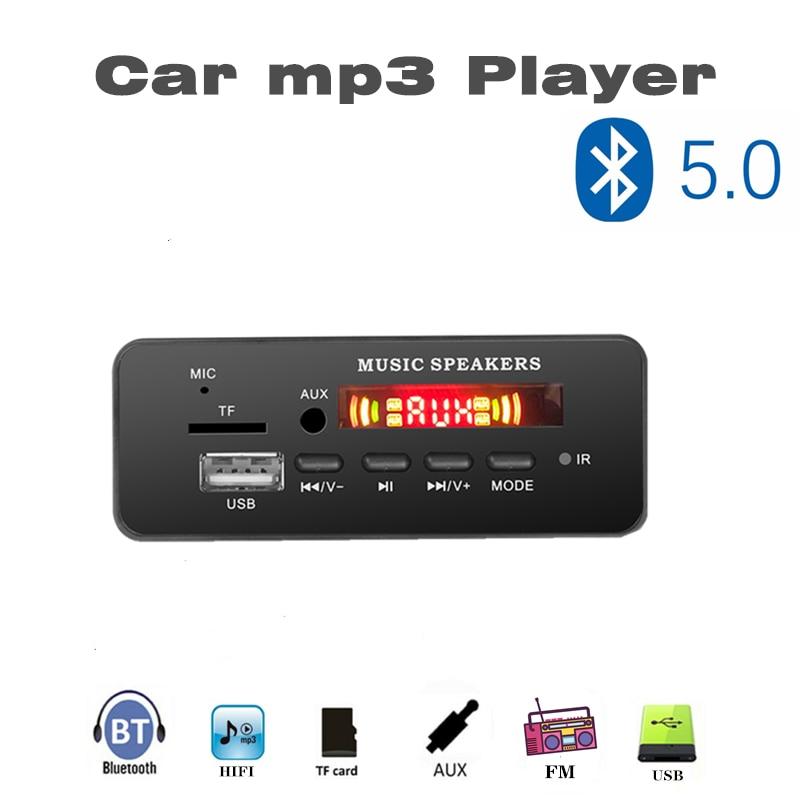 VICFINE Color Screen 5-12V MP3 WMA Wireless Bluetooth 5.0 Decoder Board Audio Module USB FM TF Radio AUX Input No Amplifier