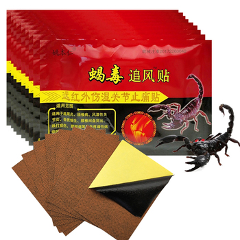 dropship chinese medicine snake venom essential oil alleviate pain hot feeling knee pain rheumatism acupuncture musk spray 80ml 104pcs/13bag Knee Joint Pain Relieving Patch Chinese Scorpion Venom Extract Plaster for Body Rheumatoid Arthritis Pain Relief