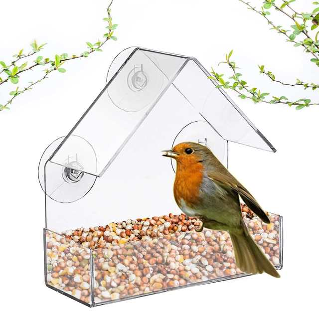 Krmítko pro ptáky na okno -