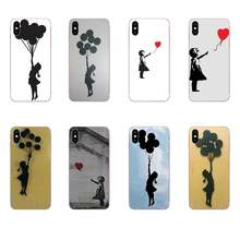 For Samsung Galaxy Note 5 8 9 S3 S4 S5 S6 S7 S8 S9 S10 5G mini Edge Plus Lite Soft Hipster Case Banksy Balloon Girl On Wall(China)