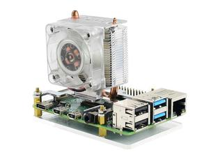 Image 3 - Waveshare ICE Tower CPU Cooling Fan for Raspberry Pi, Super Heat Dissipation, Supports Both Raspberry Pi 4 & 3