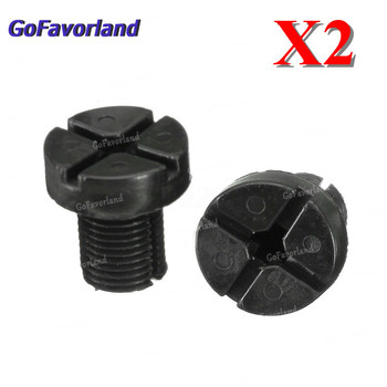 2pcs Car Radiator Hose Bleed Vent Screw Plug Bleeding For BMW 3 Series E30 E36 E46 E90 17111712788 image