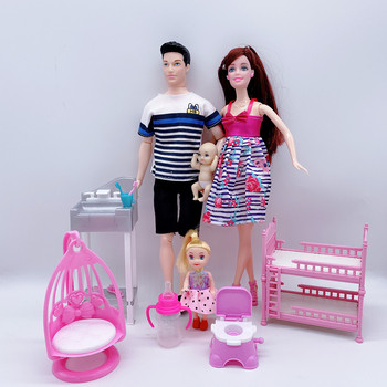 happy-family-combination-of-4-people-11-5-male-daddy-doll-pregnant-mom-little-baby-double-crib-childrens-toy-accessories-gif