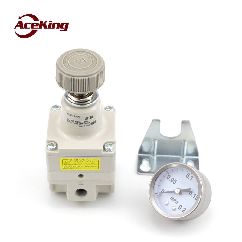 Купить с кэшбэком Precision pressure reducing valve ir2000/2010/2020-02bg air pressure regulating valve pneumatic air adjustable type IR2000-02-A